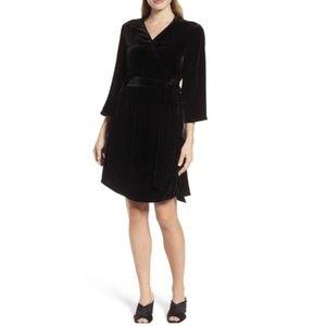 Eileen Fisher Velvet Wrap Dress Size M NWT $378